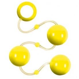 Желтые анальные шарики Renegade Pleasure Balls