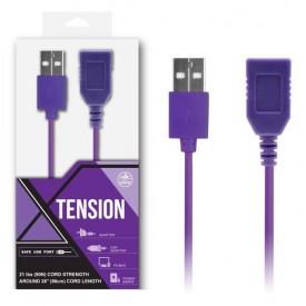 Фиолетовый удлинитель USB-провода - 100 см.
