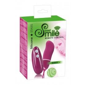 Бордовое виброяйцо Smile BERRY - 7 см.